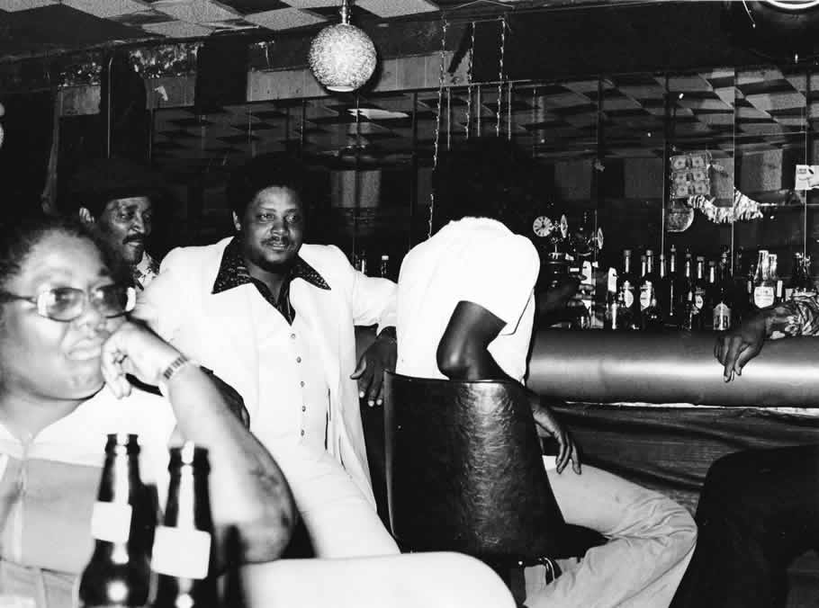 Andre Big Voice Odom at Checkerboard Lounge in 1977 or 1979 - By Andre Hobus