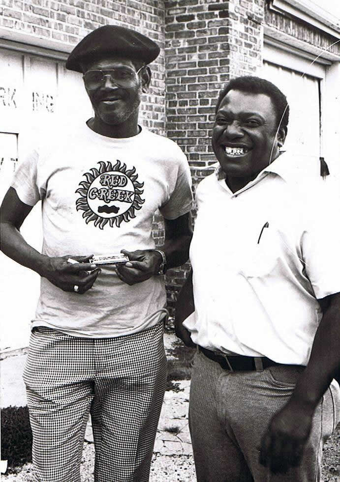 Big Walter Horton and Wild Child Butler - By Andre Hobus