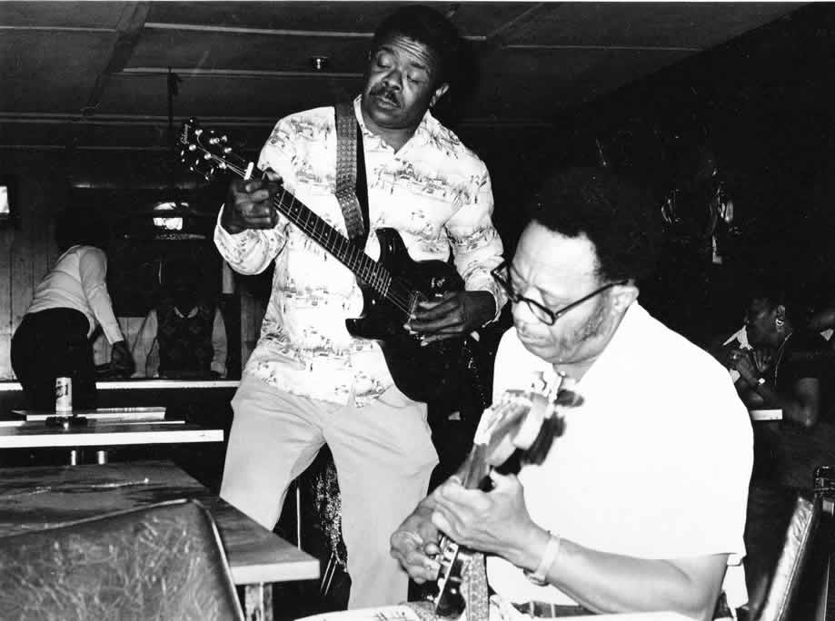 Left Hand Frank and James Scott Jr. at a club on the West Side - By Andre Hobus