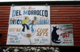 Sign outside Del Morocco Club by Andre Hobus