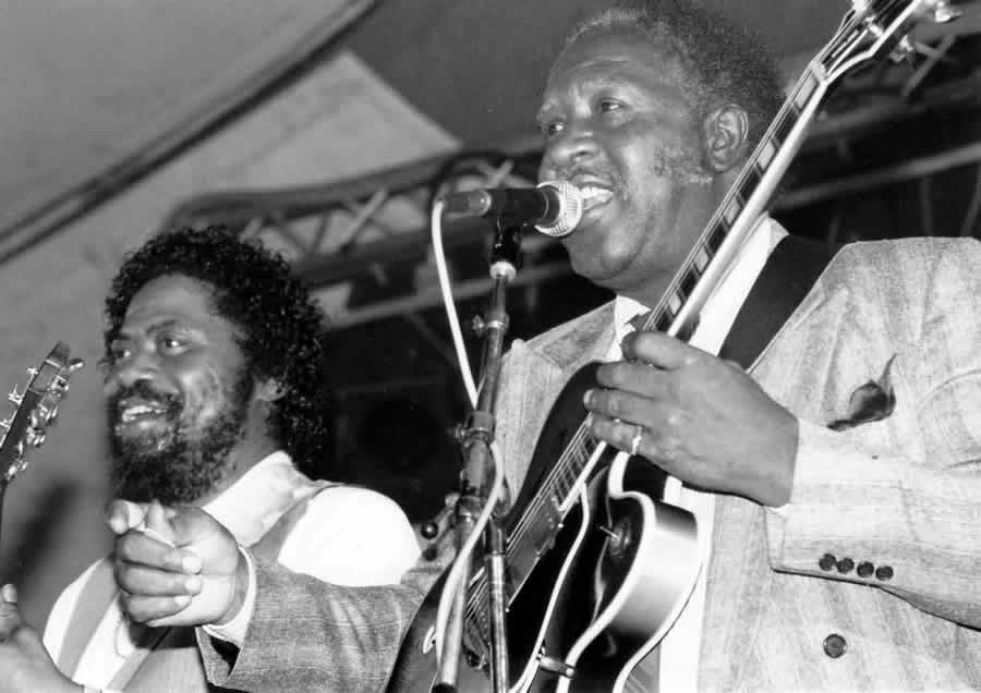 Son Seals and Fenton Robinson at Ecaussines Festival in France 1992 - By Andre Hobus